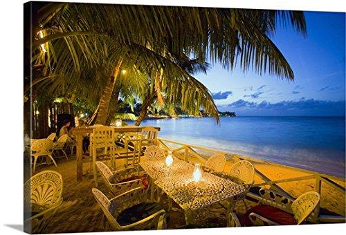 Massimo Borchiプレミアムシックラップカンバスウォールアートプリント題名ドミニカ共和国、Samana、Las Terrenas、syrozバーnear the beach 48