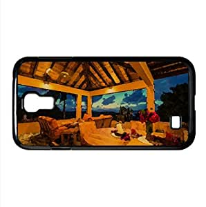 Carribean Terrace Watercolor style Cover Samsung Galaxy S4 I9500 Case (Islands Watercolor style Cover Samsung Galaxy S4 I9500 Case)