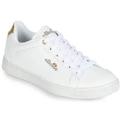 fashion styles wholesale website for discount ellesse Basket Basses Femme - Zélie EL814485 01 Blanc Or