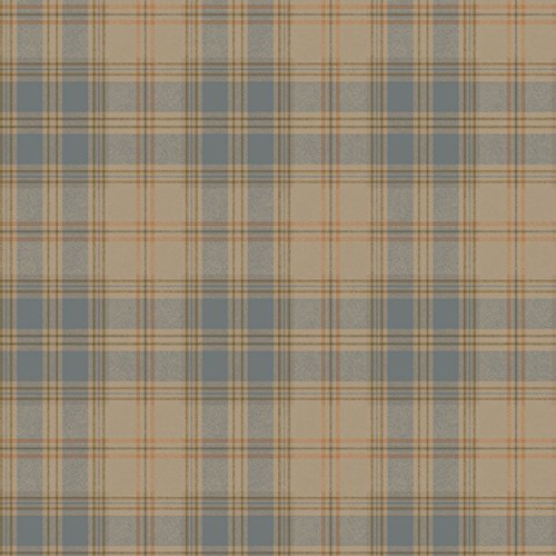 York Wallcoverings ML1224 Houndstooth Regents Glen Wallpaper Mensware Plaid Blue, Coral, Olive Green on Tan -
