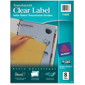 50 off avery index maker translucent dividers with clear labels 5