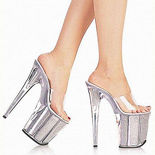 Crystal gestreiften braut schuhe high 20 cm high schuhe heels - 08a73d