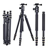 Lookatool® Mactrem Portable Camera Magnesium Aluminium Tripod Monopod Ball Head + Carry Bag