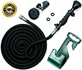 Vela Expandable Water Hose - 75 Ft Brass Bullet Hose - Garden Hose with High Pressure Water - 9 Settings Spray Nozzle Included - Heavy Duty Shrinking Hose - Compact & Practical Outdoor Hose