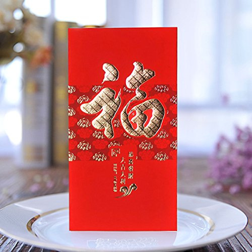 ZFKJERS Pack-30 Chinese Red Envelopes - Lucky Money Gift Envelopes Red Packet for New Year, Birthday, Wedding (6.5 x 3.4 in)