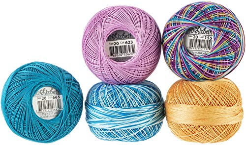 - Handy Hands Lizbeth Specialty Pack Cordonnet Cotton Size 20-ocean View 5/pkg