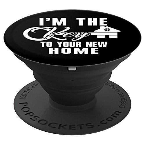 (Funny Real Estate Agent Men Women Gift - PopSockets Grip and Stand for Phones and Tablets)