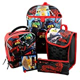 Lego Ninjago 6 piece Backpack and Lunch Box School Set