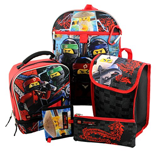 Lego Ninjago 6 Piece Backpack And Lunch Box School Set