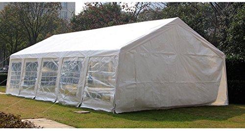 AECOJOY 19′ x 32′ Outdoor Carport Canopy Heavy Duty Wedding Party Tent with Sidewalls