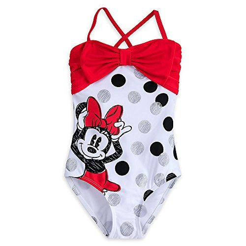Disney Minnie Mouse Swimsuit for Girls Size 5/6 (Piece Disney One Swimsuit)