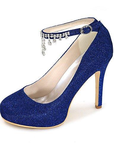 GGX/Damen Schuhe Glitter Frühjahr/Sommer/Herbst, Round Toe Heels Hochzeit/Party & Abend/Kleid 4in-4 3/4in-black