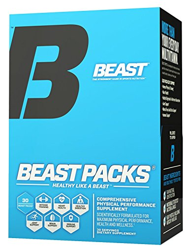 Daily Vitamin Packs - Beast Sports Nutrition – Beast Packs – All-in-One Daily Multivitamin Performance Pack – Joint Complex – Fish Oil – Improves Overall Well-Being – Promotes Healthy Immune System – 30 Servings