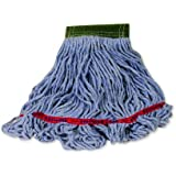 Rubbermaid Commercial FGC15206BL00 Swinger Wet Mop Head, 5-inch Headband, Medium, Blue