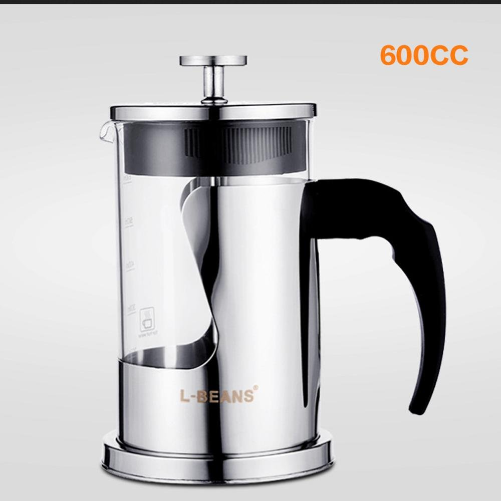 XUEXIN Method stainless steel coffee pot home French tea pot 600ml by XUEXIN