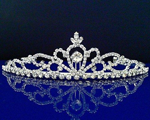 Rhinestones Crystal Wedding Bridal Prom Pageant Princess Tiara Crown 2530