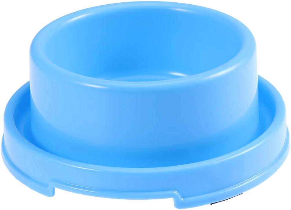 UKCOCO Tazón de Comida Anti-Hormiga para Mascotas, Cuenco de Comida de Agua de Plástico, Recipiente para Alimentos Antideslizante para Perros y Gatos (BLU)