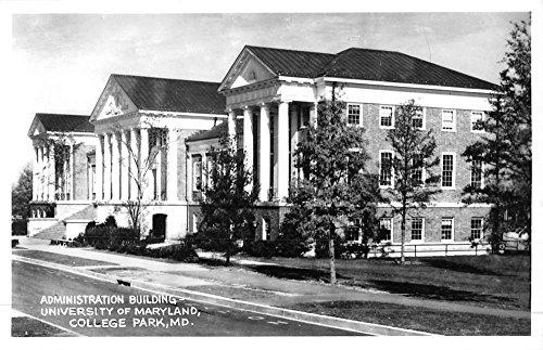College Park Maryland University Admin Bldg Real Photo Antique Postcard (Bldg University)