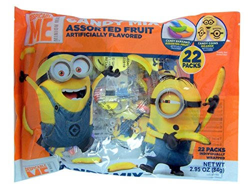 Despicable Me Minions Halloween Candy Mix, 22 Count, Pack of 3 (Halloween Candy Party Favors)