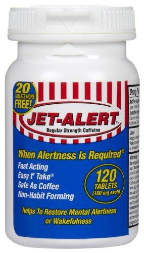 Jet-Alert énergie Stimulant pilules de caféine, 100 mg, 120 comte (Pack de 2)