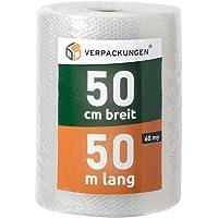 BB-Verpackungen® 805881 Luchtkussenfolie, 0,5 x 50 m - Dikte: echte 60 my, noppenfolie blisterfolie knalfolie…