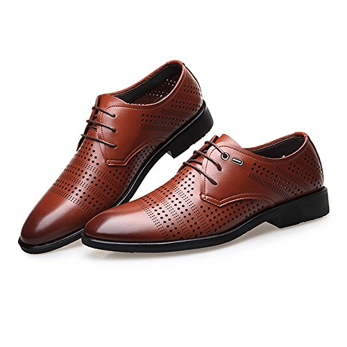 pelle 2018 uomo shoes uomo da Scarpe Black 44 Estate da Color Fang Primavera Brown EU in vera Size BRgnxzqp