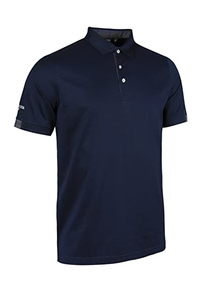 76c90bf5f Glenmuir Men s MSL7458 Mercerised Cotton Tailored Collar Golf Polo with  Tartan Cuffs and Placket  Amazon.co.uk  Clothing