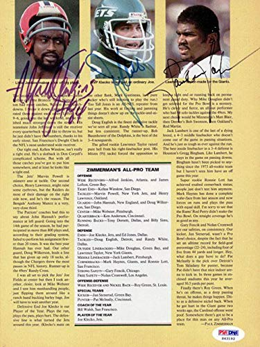 Lawrence Taylor, Alfred Jenkins & Joe Klecko Autographed Magazine Page Photo #S43192 PSA/DNA Certified