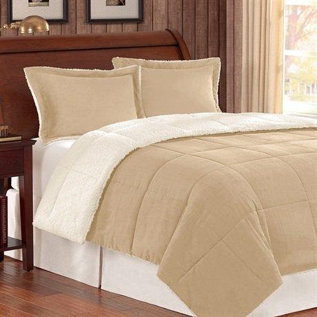 Premier Comfort Jackson Corduroy Reverse to Berber Comforter Mini Set, King/ California King, - Corduroy Comforter Set