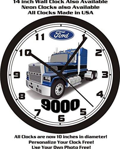 FORD 9000 SEMI-TRUCK WALL CLOCK-FREE USA SHIP!-Choose 1 of 2