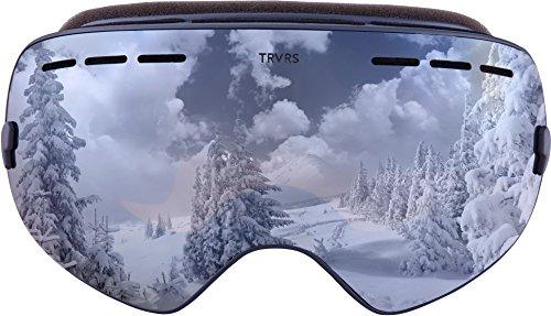 Traverse Goggles - Traverse Virgata Ski, Snowboard, and Snowmobile Goggles, River Rock with Polarized Mirror Lens