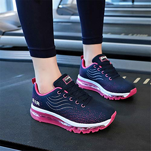 Breathable Trainers Size Fitness Running 9 Monrinda Women Athletic Sport Blue Jogging Plum2 Outdoor Absorbing Men 5 Air Shock Shoes 4 Shoes ZfBwxqFBS