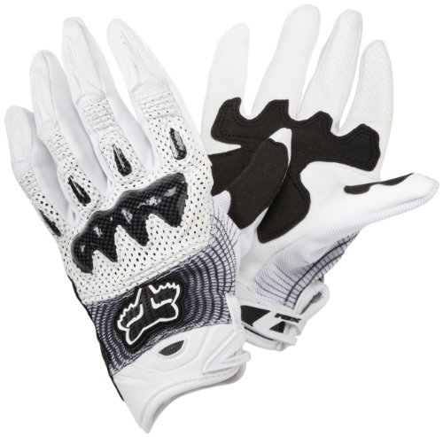 Fox Racing Bomber Vortex Men's Off-Road/Dirt Bike Motorcycle Gloves - White/Black / - Motorcycle Bike Dirt Toy
