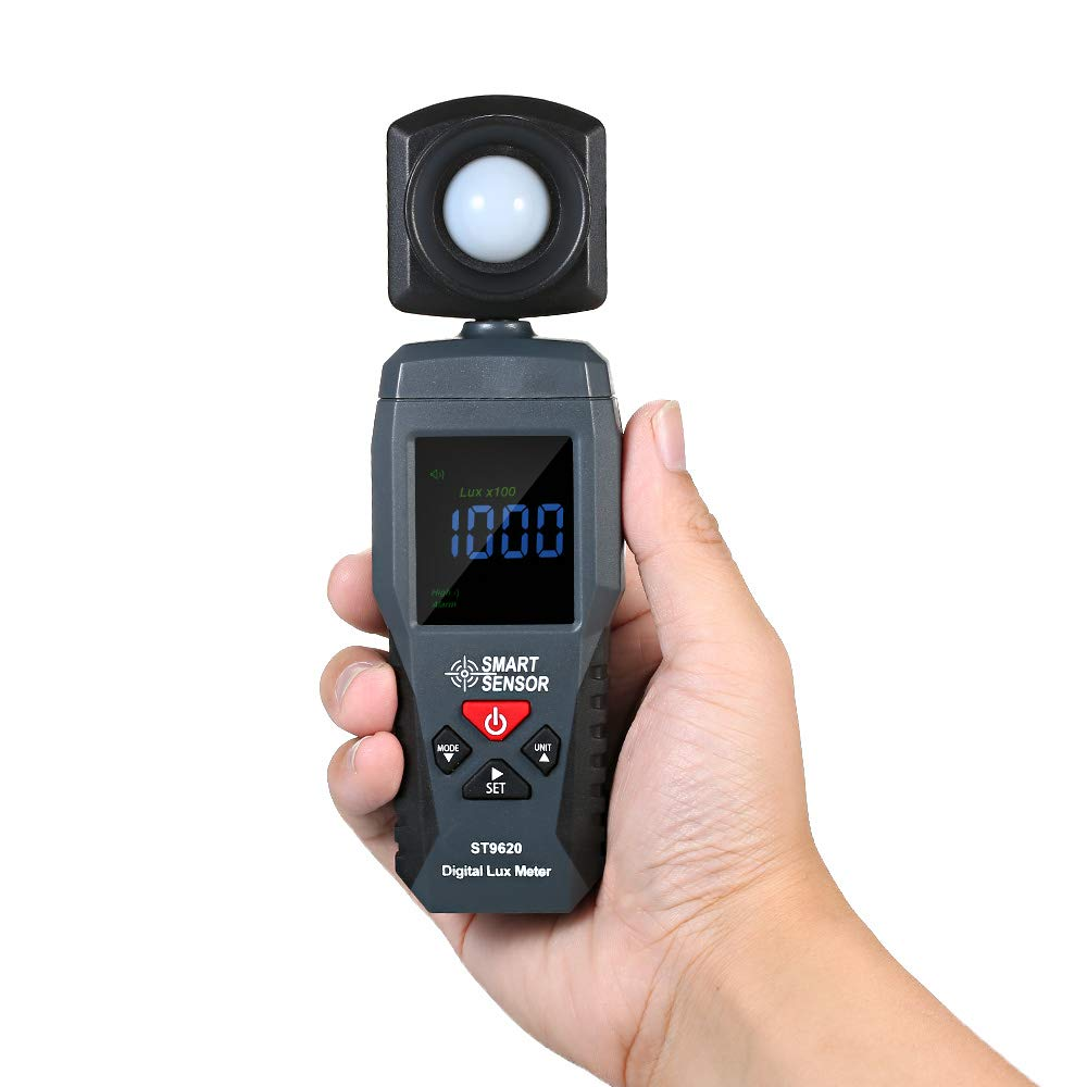 SMART SENSOR ST9620 Digital Lux Meter LCD Display Handheld Illuminometer Luminometer Photometer Luxmeter Light Meter by Expressus