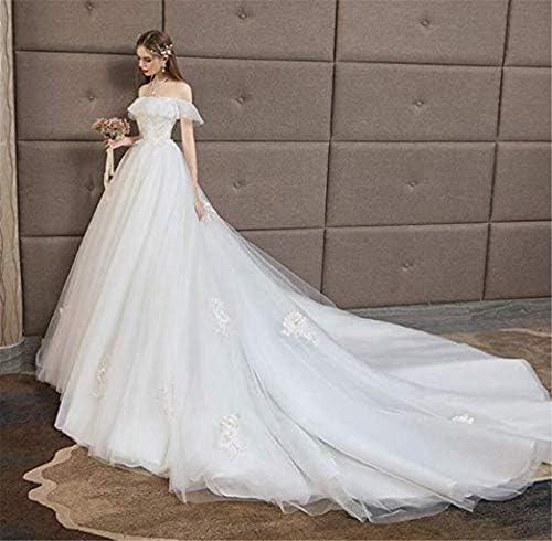 BEAUTIFUI-BRIDE La Robe de mariée de la Femme, Princesse de rêve Dentelle mariée traînant Robe de mariée de Taille Haute Qi Femmes Enceintes Robe de soirée de Mariage/S