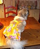 Joybies Yellow Aloha Piddle Skirt XXL Female Dog (22-24 in. collar to tail)