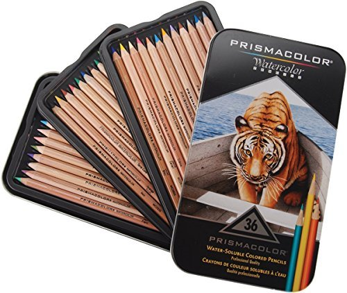 Prismacolor Water-Soluble Colored Pencils, 36-Count (Pack of 2)