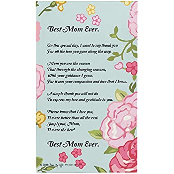 Mom Gifts For Christmas Best Mom Ever Mom Poem