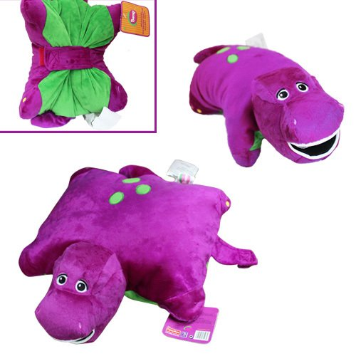 Cute ! Barney Dinosaur 12'' X 12'' Cushion Pillow Soft Plush Doll Best Gift High Quality Product Fast Shipping Ship Worldwide by GIFTDAYTODAY