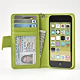 Navor iPhone 5C Protective Book Style Folio Wallet Leather Case - Green