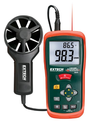 Extech AN200 CFM/CMM Mini Thermo-Anemometer with built-in Infrared Thermometer ()