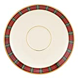 Lenox Winter Greetings Plaid Saucer