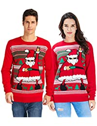 Unisex Ugly Christmas Crewneck Sweatshirt Novelty 3D...
