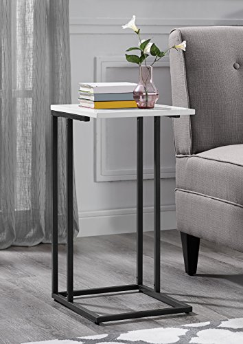 (Serta Harton C Shape Side Table, Black)