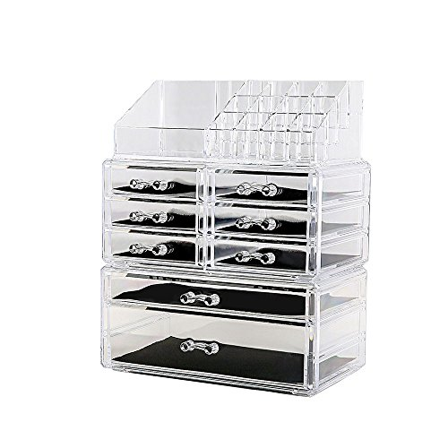Makeup Organizer 3 Pieces Acrylic Cosmetic Storage Drawers a
