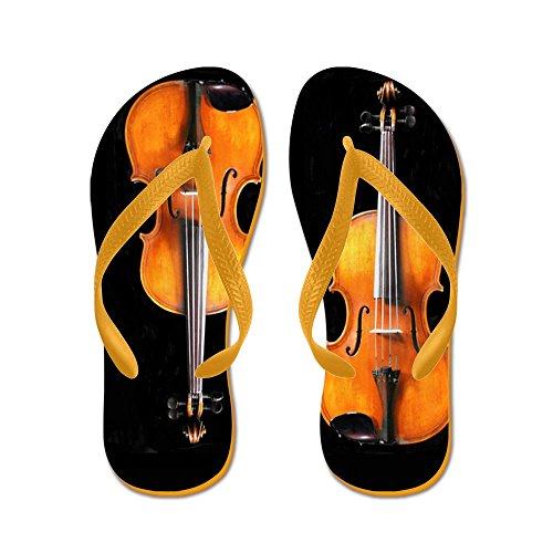 Cafepress Violas-violinsrug.png - Chanclas, Sandalias Thong Divertidas, Sandalias De Playa Naranja