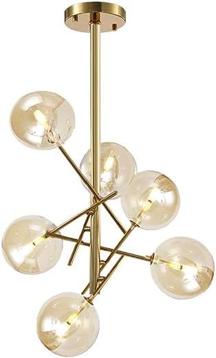 Dellemade XD00936 Sputnik Chandelier 6-Light Ceiling Light Globe Pendant Lamp