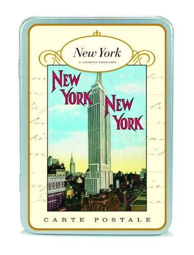 Vintage New York City NYC Postcard set in Keepsake Tin Cavallini ()