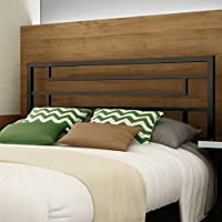 Amisco Temple Metal Headboard Only, Queen Size 60, Cobrizo/Textured Dark Brown