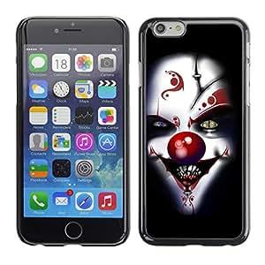 - Clown Evil Joker - - Monedero pared Design Premium cuero del tir¨®n magn¨¦tico delgado del caso de la cubierta pata de ca FOR Apple iPhone 6 6S 4.7 Funny House
